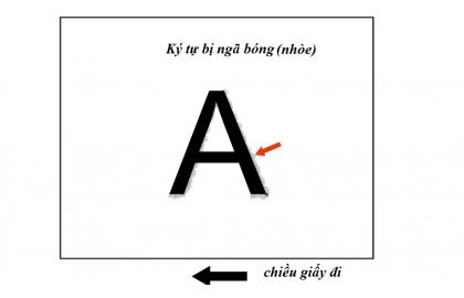 Cách xử lý lỗi nhòe chữ của máy Canon IRADV 4051